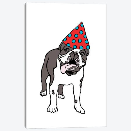 Bulldog With Hat Canvas Print #FAU40} by Eric Fausnacht Canvas Art Print