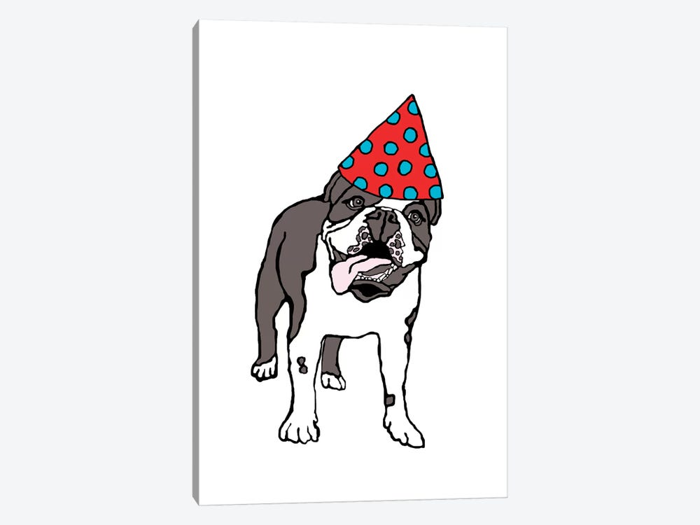Bulldog With Hat by Eric Fausnacht 1-piece Canvas Art Print