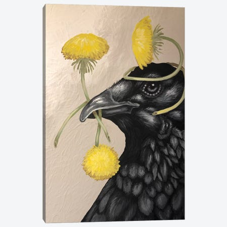 Crow And Dandelions Canvas Print #FAU43} by Eric Fausnacht Canvas Print