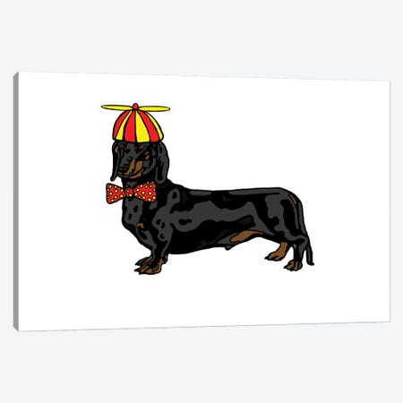 Daschund With Hat And Bowtie Canvas Print #FAU44} by Eric Fausnacht Canvas Art
