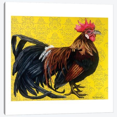 Bantam Single Comb Phoenix Canvas Print #FAU4} by Eric Fausnacht Art Print