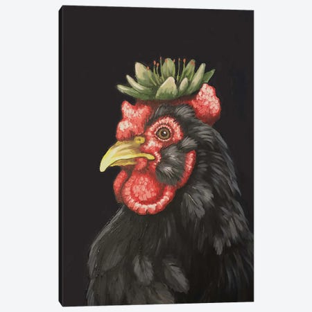 Hen With Hen And Chicks Canvas Print #FAU56} by Eric Fausnacht Art Print
