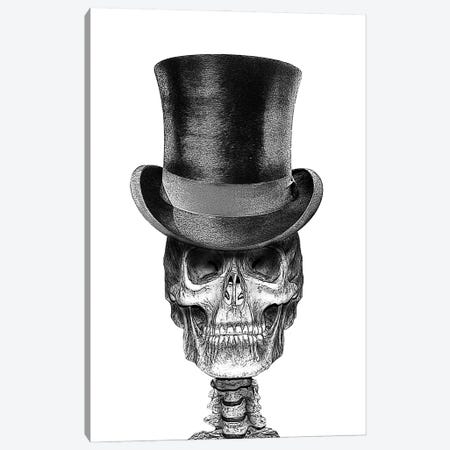 Skull In Top Hat Canvas Print #FAU65} by Eric Fausnacht Canvas Wall Art