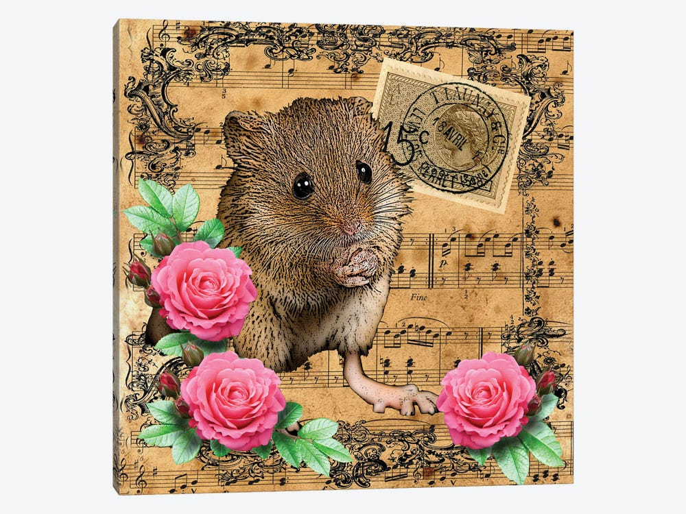 Music Mouse by Eric Fausnacht 1-piece Canvas Art Print