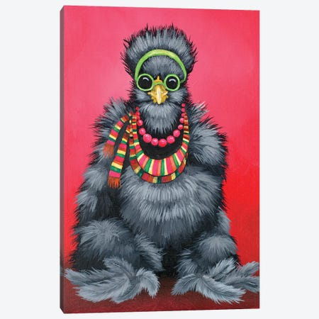 Black Silkie Hippie Canvas Print #FAU8} by Eric Fausnacht Canvas Art
