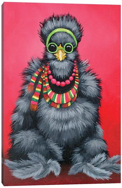 Black Silkie Hippie Canvas Art Print