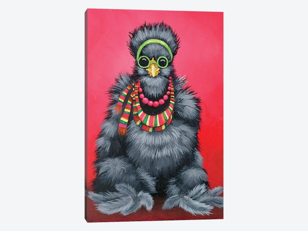 Black Silkie Hippie by Eric Fausnacht 1-piece Canvas Art Print
