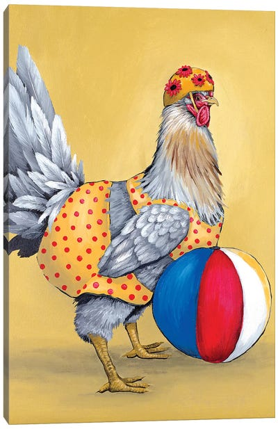 Delaware Hen Bikini Canvas Art Print
