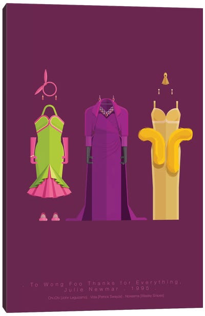 Famous Hollywood Costumes Series: To Wong Foo, Thanks For Everything! Julie Newmar Canvas Print #FBI104