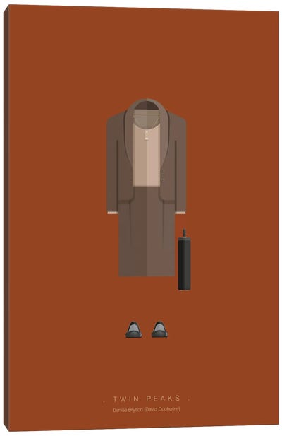 Famous Hollywood Costumes Series: Twin Peaks Canvas Print #FBI109