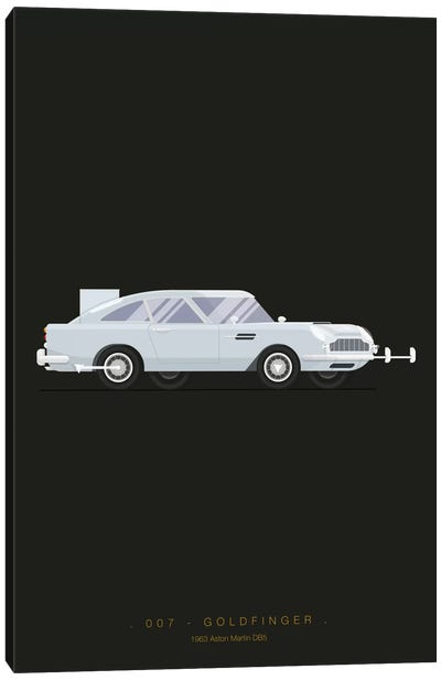 Famous Cars Series: Goldfinger Canvas Print #FBI10