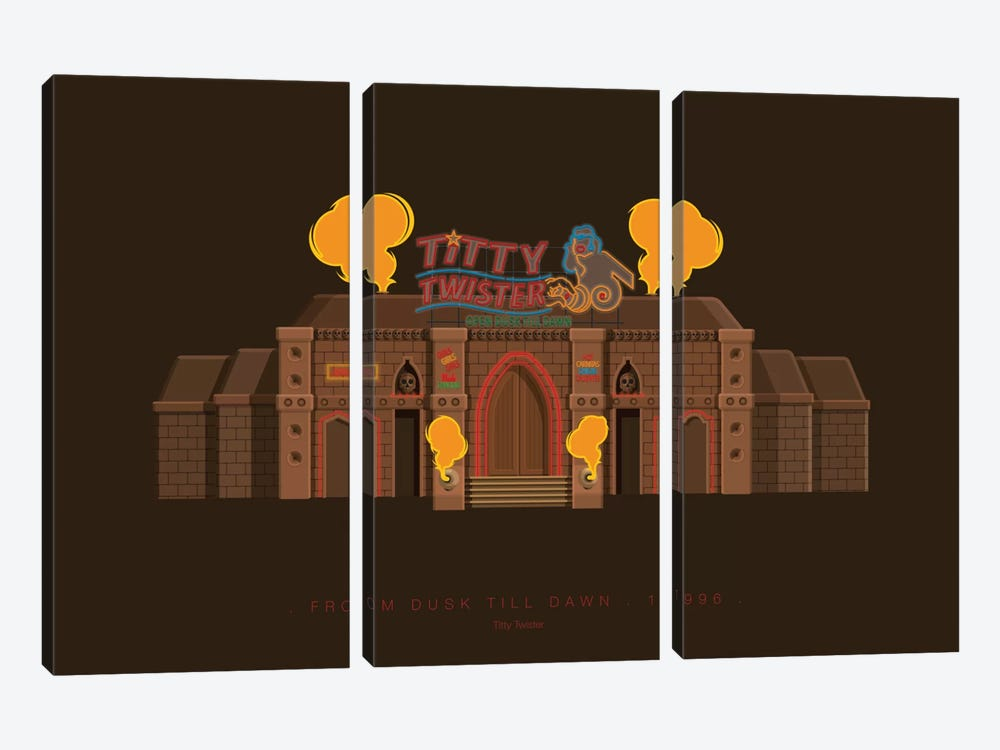 From Dusk Till Dawn by Fred Birchal 3-piece Canvas Print