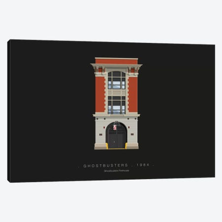 Ghostbusters Canvas Print #FBI117} by Fred Birchal Art Print