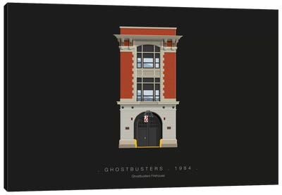 Famous Hollywood Settings Series: Ghostbusters Canvas Print #FBI117