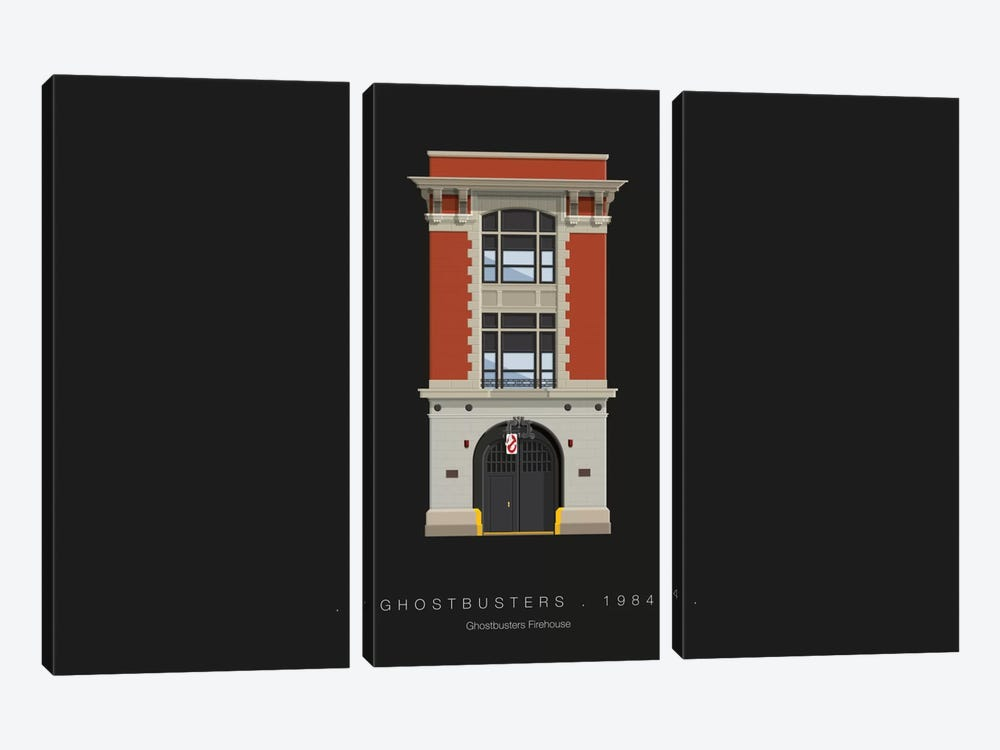 Ghostbusters by Fred Birchal 3-piece Canvas Art