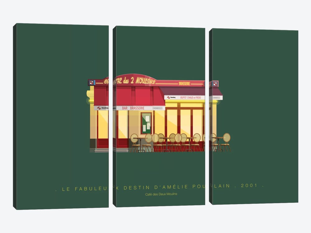 Le Fabuleux Destin d'Amelie Poulain by Fred Birchal 3-piece Canvas Art Print