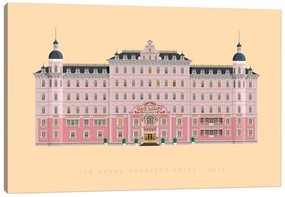Famous Hollywood Settings Series: The Grand Budapest Hotel Canvas Print #FBI125