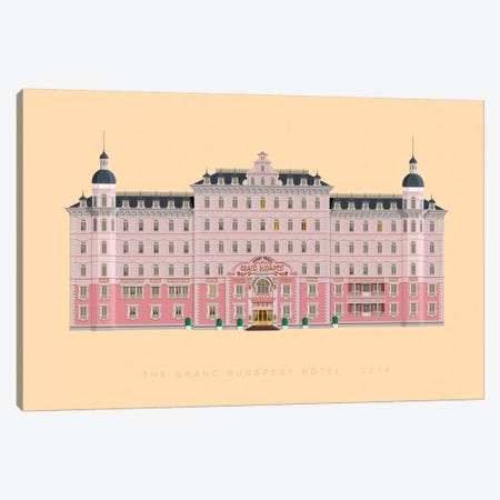 The Grand Budapest Hotel Canvas Print #FBI125} by Fred Birchal Canvas Wall Art