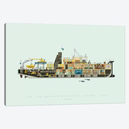 The Life Aquatic With Steve Zissou Canvas Print #FBI126} by Fred Birchal Canvas Artwork