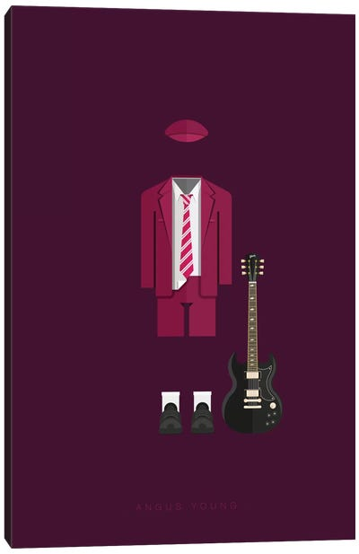 Famous Musical Costumes Series: Angus Young Canvas Print #FBI128