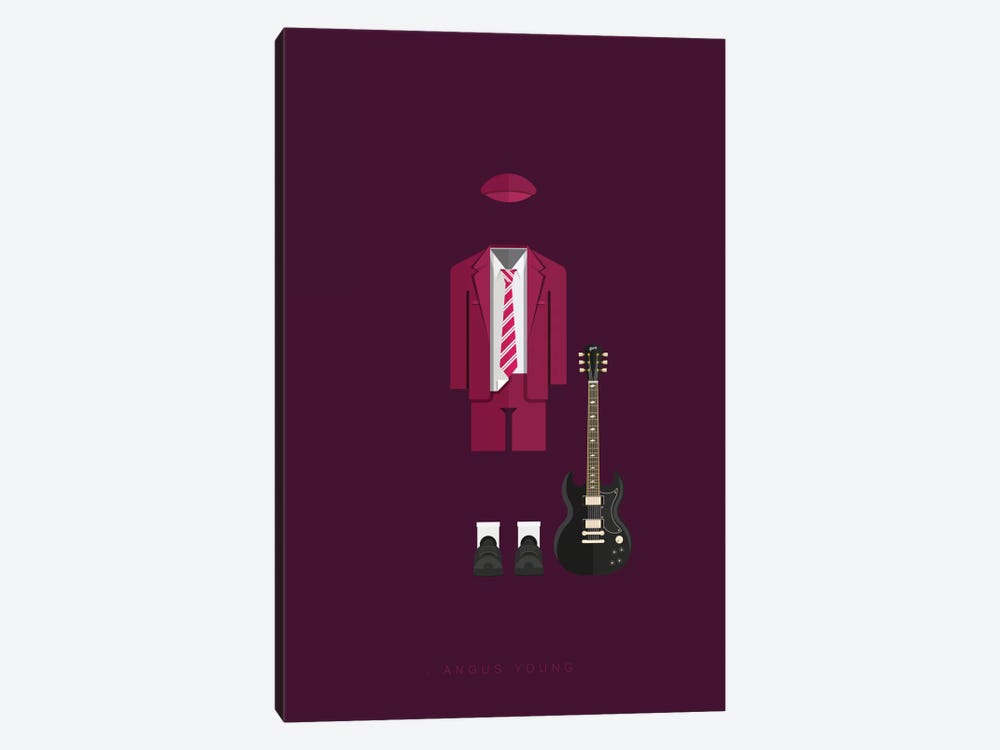 Angus Young by Fred Birchal 1-piece Canvas Art