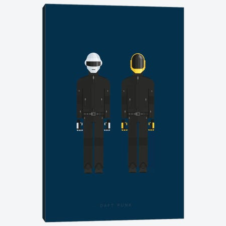 Daft Punk Canvas Print #FBI129} by Fred Birchal Canvas Art Print