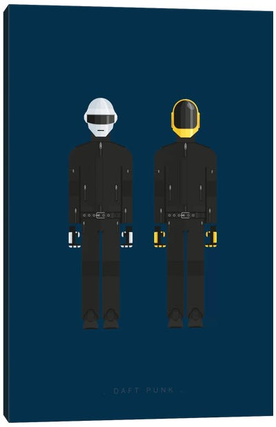 Famous Musical Costumes Series: Daft Punk Canvas Print #FBI129
