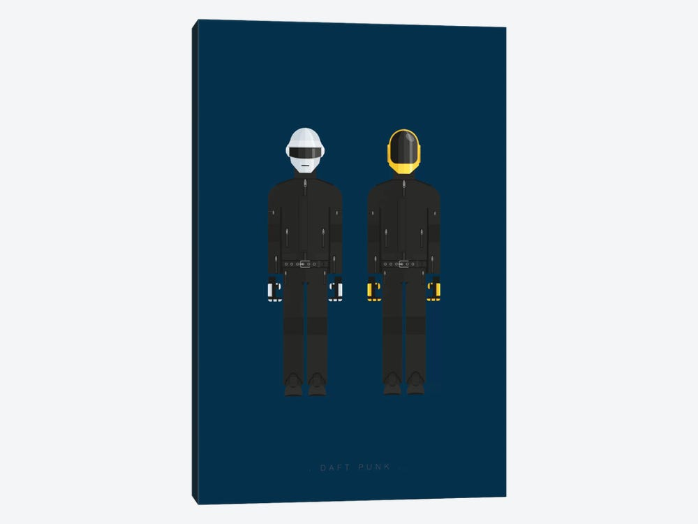 Daft Punk by Fred Birchal 1-piece Canvas Print