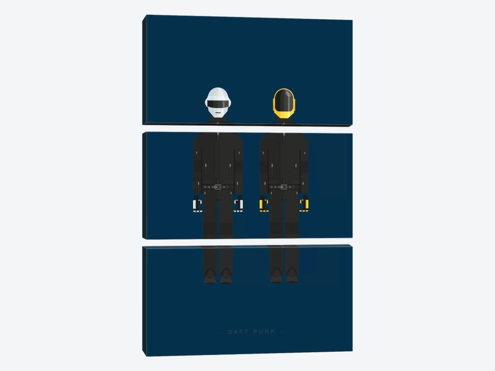 Daft Punk by Fred Birchal 3-piece Art Print