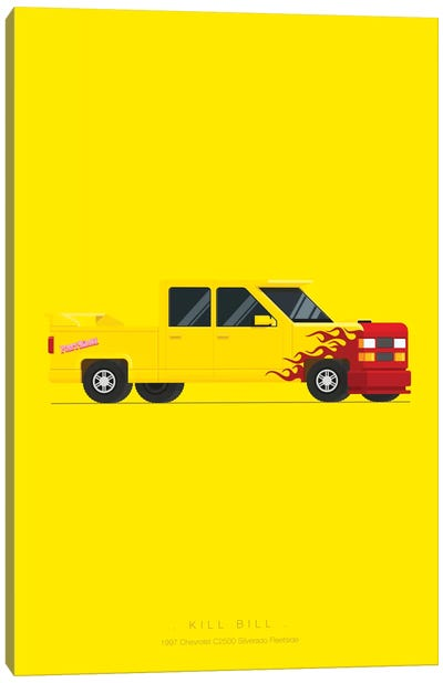 Famous Cars Series: Kill Bill Canvas Art Print