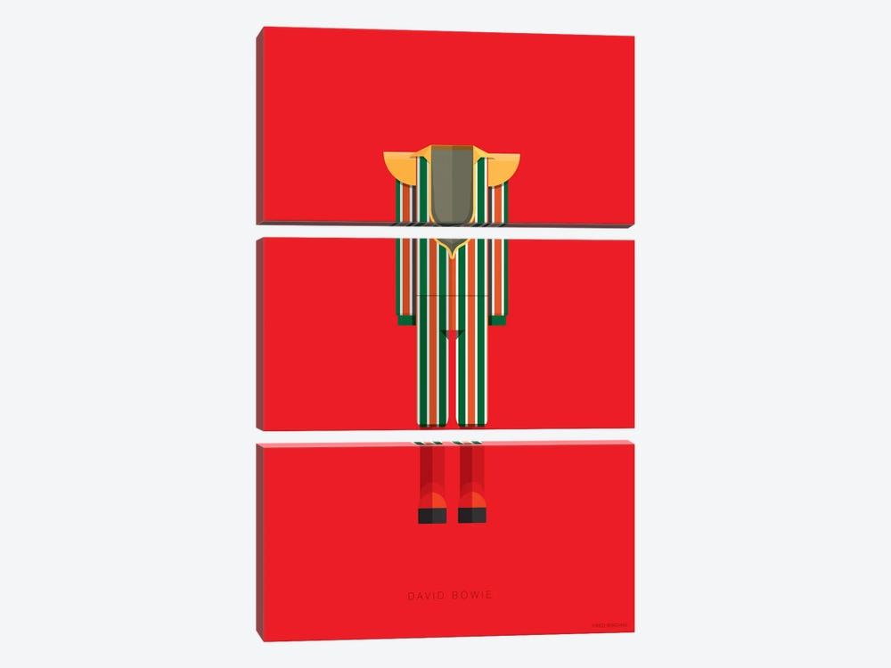 David Bowie by Fred Birchal 3-piece Canvas Print