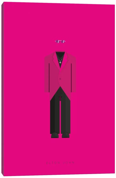 Famous Musical Costumes Series: Elton John Canvas Print #FBI131