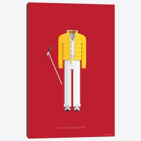 Freddie Mercury Canvas Print #FBI133} by Fred Birchal Canvas Wall Art