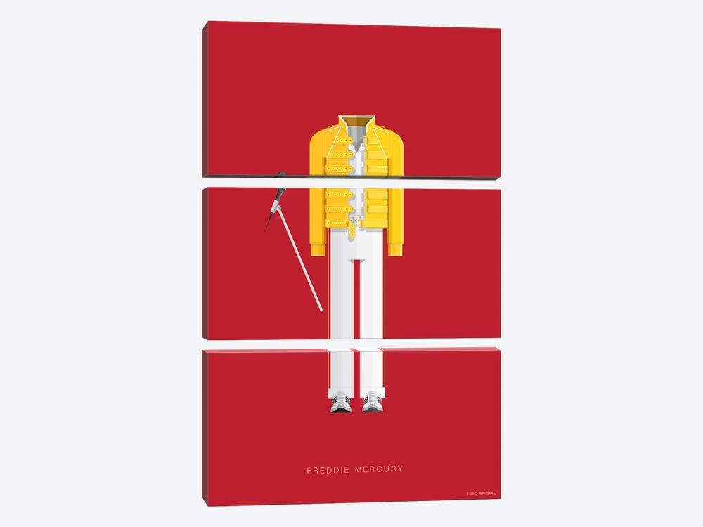 Freddie Mercury by Fred Birchal 3-piece Canvas Wall Art