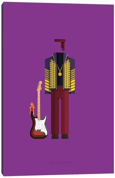 Famous Musical Costumes Series: Jimi Hendrix Canvas Print #FBI134