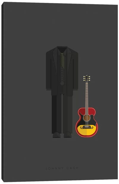 Famous Musical Costumes Series: Johnny Cash Canvas Print #FBI135