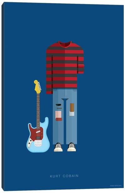 Famous Musical Costumes Series: Kurt Cobain Canvas Print #FBI136