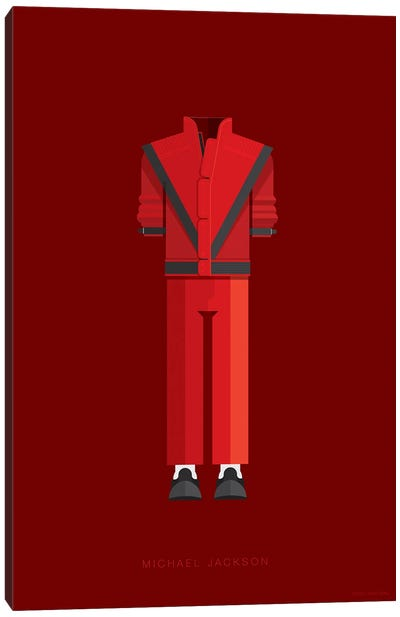 Famous Musical Costumes Series: Michael Jackson Canvas Print #FBI137