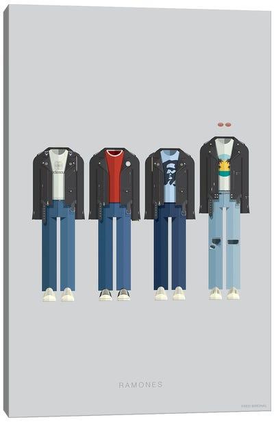 Famous Musical Costumes Series: Ramones Canvas Print #FBI138