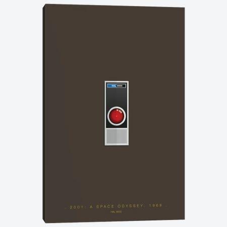 2001: A Space Odyssey (HAL 9000) Canvas Print #FBI141} by Fred Birchal Canvas Print