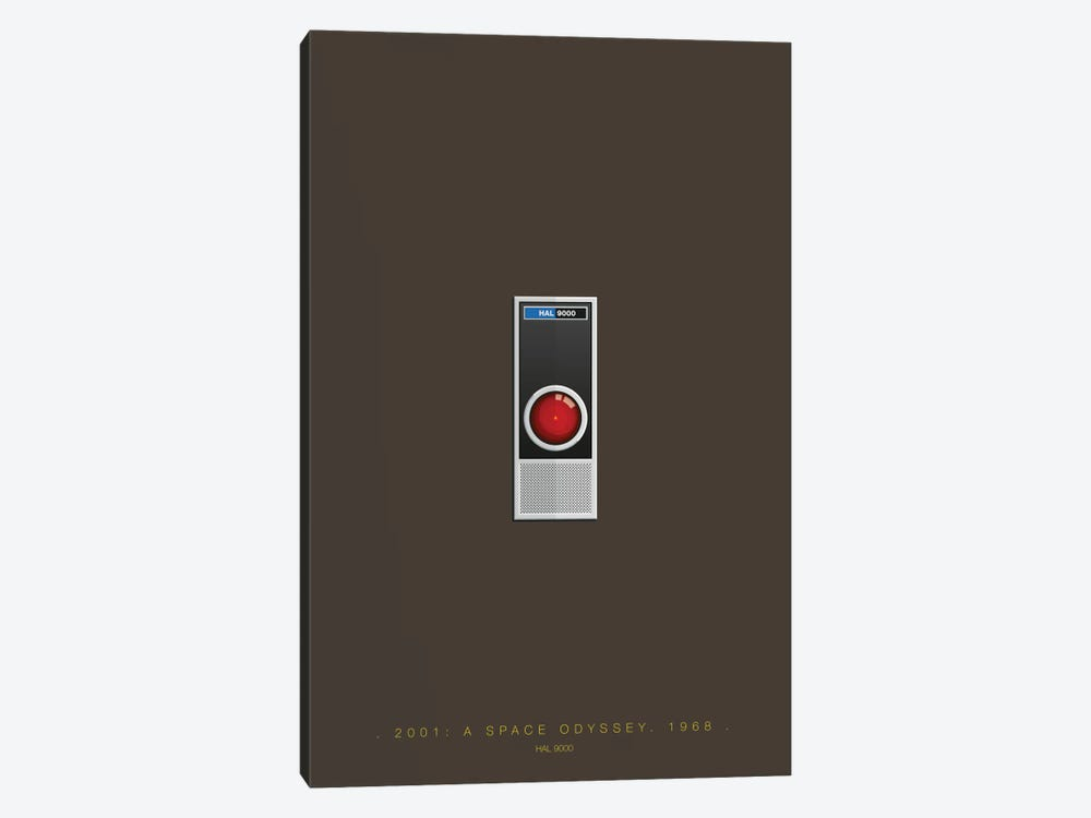 2001: A Space Odyssey (HAL 9000) by Fred Birchal 1-piece Canvas Print