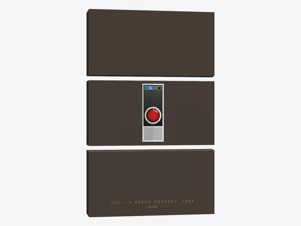 2001: A Space Odyssey (HAL 9000) by Fred Birchal 3-piece Art Print
