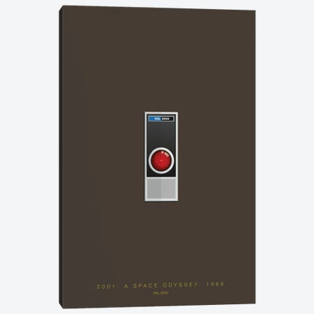 2001: A Space Odyssey (HAL 9000) Canvas Print #FBI141} by Fred Birchal Canvas Print