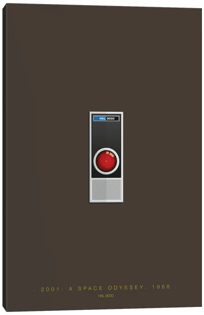 Famous Robots Series: 2001: A Space Odyssey (HAL 9000) Canvas Print #FBI141