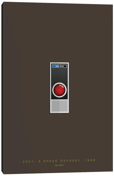 Famous Robots Series: 2001: A Space Odyssey (HAL 9000) Canvas Print #FBI141