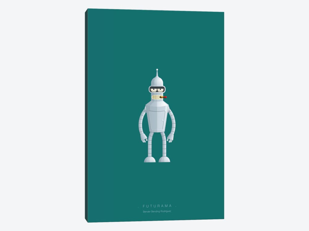 Futurama (Bender Bending Rodriguez) by Fred Birchal 1-piece Art Print