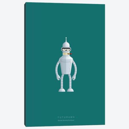 Futurama (Bender Bending Rodriguez) Canvas Print #FBI143} by Fred Birchal Art Print