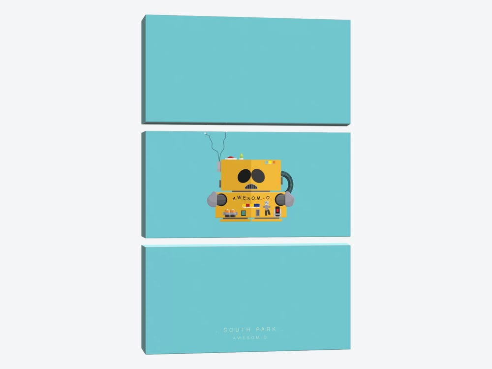 South Park (A.W.E.S.O.M. - O.) by Fred Birchal 3-piece Canvas Wall Art