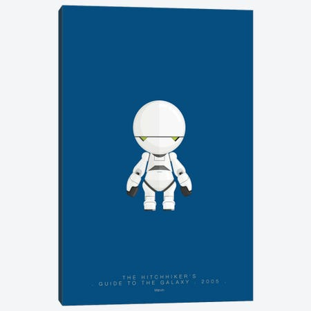 The Hitchhiker's Guide To The Galaxy (Marvin) Canvas Print #FBI145} by Fred Birchal Canvas Artwork