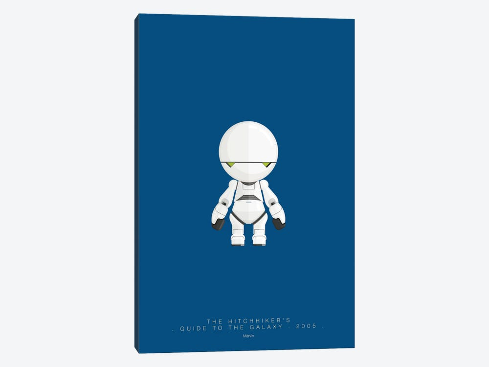 The Hitchhiker's Guide To The Galaxy (Marvin) by Fred Birchal 1-piece Canvas Art Print